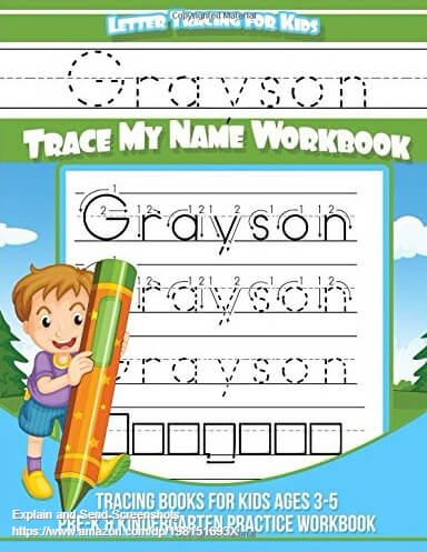 Grayson Printable Kids Gift Name Meaning Art Baby Shower ...  |Grayson Name