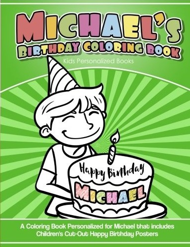 Michael\'s Birthday Coloring Book Kids Personalized Books ...