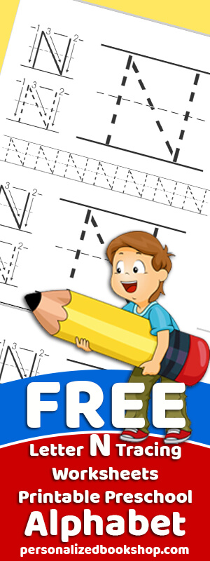 Letter N Tracing Worksheets Preschool Free Traceable Alphabet
