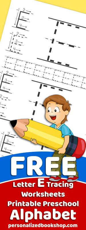 Letter E Tracing Worksheets Preschool Free Traceable Alphabet Printables