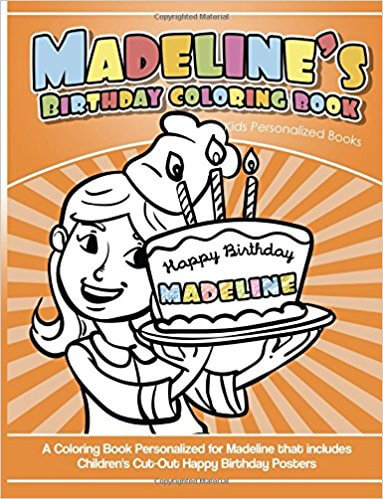 Madeline\'s Birthday Coloring Book Kids Personalized Books ...